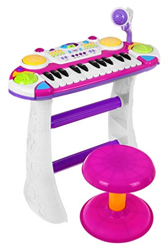 BSD Spielzeug Musical Keyboard Elektronisches Klavier Kinder Piano - 2 Oktaven - Rosa