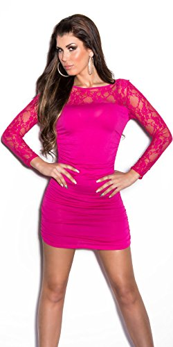 FASHION BOUTIK mini robe moulante dentelle TU 34 36 38 Rose