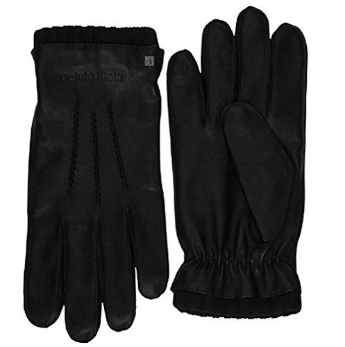 Calvin Klein Octave Leather Homme Gants Noir