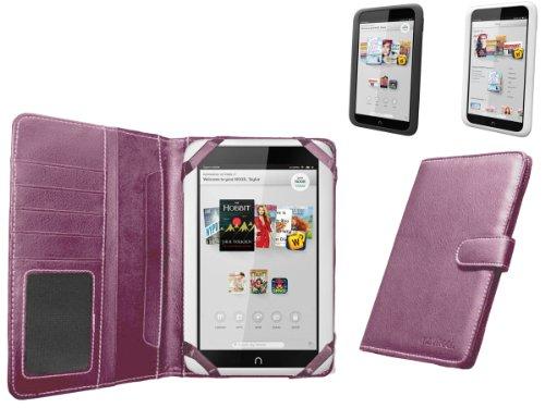 Navitech echtes pinkes 7 Zoll bycast Leder flip Trage Case / Cover im Buch Stil für das Nook HD 7 Zoll ereader Tablet (Nook Hd 7 Tablet)