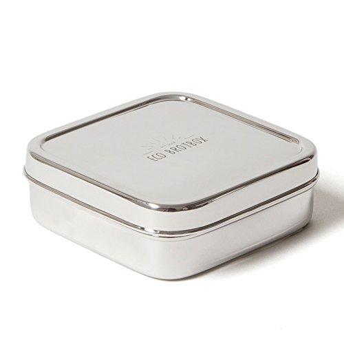 ECO Brotbox | Brotbox Classic | quadratische Brotdose aus Edelstahl | 0,5 l
