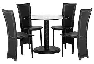 seconique cameo round dining set kitchen home. Black Bedroom Furniture Sets. Home Design Ideas