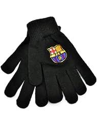 FC BARCELONA Oficiales negros guantes con cresta