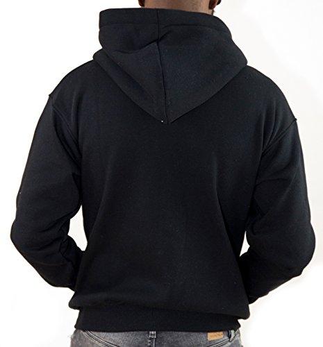 Redrum Sweatshirt Zip Kapuzenjacke Zipper Hoodie Hoody Jacke schwarz grau Plain Schwarz