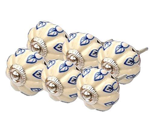 Sharvgun Premium-Qualität Schöne handgemachte gedruckte 50 Beige runde Form Schublade Knöpfe Kabinett Hardware für Kinder Tür und Haus & Küche Dekoration - Tür-hardware Haus