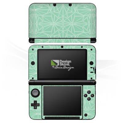 Nintendo 3 DS XL Case Skin Sticker aus Vinyl-Folie Aufkleber Muster Mint Streifen