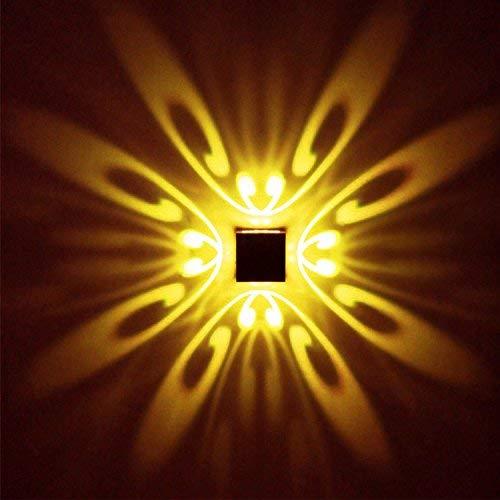 uksunvi LED Wandleuchte 3 Watt AC85-265V Schmetterling Muster Moderne Stil Aluminium Wand Lampen Up Down Schlafzimmer/Bad / Interior/Wohnzimmer / Korridor / (Gelb) -