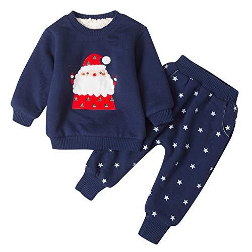 squarex ® Baby Wintermäntel Jacke Kid Dicker Schneeanzug Weihnachten Tops + Pants Outfits Kinder Casual Strampler Mädchen Bequemer Overall