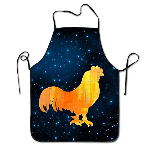 daawqee Big Cock Bib Apron for Kitchen Cooking Chef BBQ Adjustable Personalized Women Men Chef