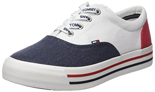 Hilfiger Denim Damen Tommy Jeans Sneaker, Weiß (RWB 020), 40 EU Jeans-pumps