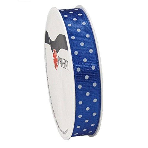 Pattberg Neu Seidenband Mini Dots, B: 15mm L: 3m, Blau -