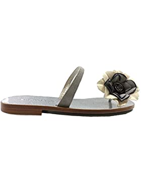 scarpe donna EDDY DANIELE 37 sandali grigio beige camoscio AW266/AW267