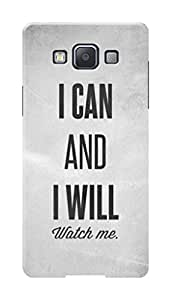 Samsung Galaxy A5 Black Hard Printed Case Cover by Hachi - I Can And I Willl Design