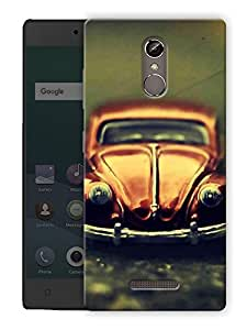 "Humor Gang vintage beetle car Printed Designer Mobile Back Cover For ""Gionee Elife S6S"" (3D, Matte Finish, Premium Quality, Protective Snap On Slim Hard Phone Case, Multi Color)"