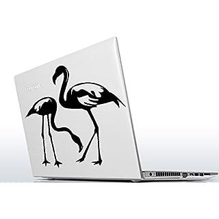 AnOL - Wandtattoo Flamingo Paar Wandaufkleber Vinylaufkleber Art Deco Romantisch Liebe Tropischer Vogel 20x20 cm