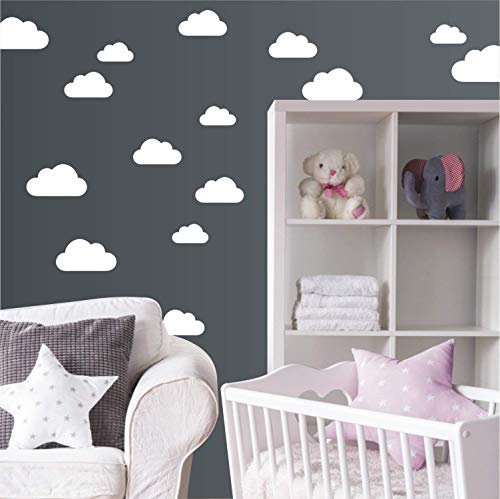 "Wandaufkleber\""Set mit 20 Wolken\"" Wandtattoo Wandsticker Sticker Wanddeko Kinderzimmer Himmel"