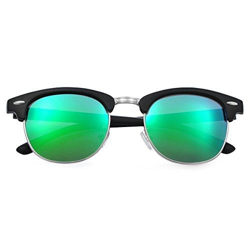efe79622a6 Yveser Gafas de sol polarizadas para hombre y mujer Yv5156 (Lente  Verde/Marco Mate
