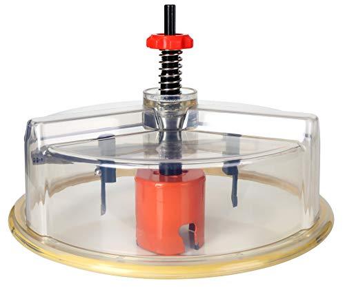 Falke Kreisschneider FKS-X PLUS (mit Staubschutzhaube für Lochsägen) - Universal für Holz, Kunststoff, Gipskarton und mehr | Durchmesser stufenlos einstellbar (48-230 mm)