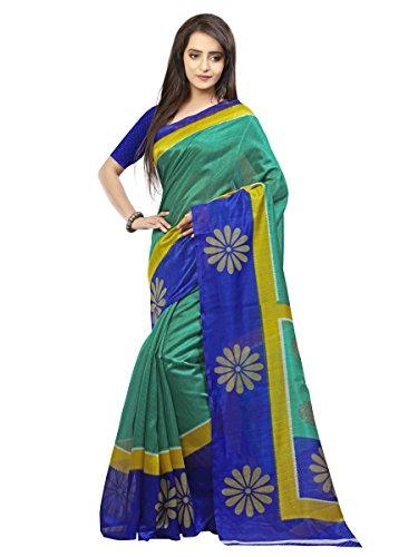 Samskruti Sarees Art Silk Saree (Syuv-210_Green)