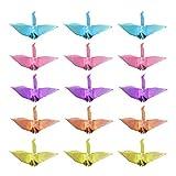 Amosfun 100 Stücke Origami Kran Origami Papier Dekor String für Kinderzimmer Fenster Hause Hintergrund Hochzeit Valentinstag Dekoration 6 Cm Perlit Farbe
