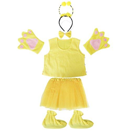 Honig Kostüm Set Bumble Bee Kleinkind Mädchen Kinder Gelb (Bumble Bee Kostüm Kleinkind)