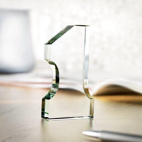 Nummer 1 Geformter Glas Pokal Briefbeschwerer - Schreibtisch Preis Geschenk 1. Erster Platz