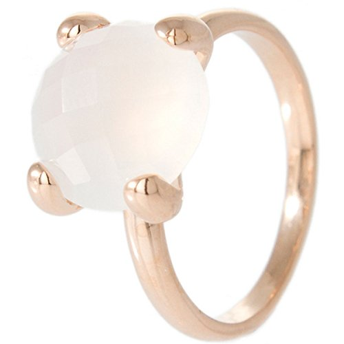 Bronzallure Damen-Ring Bronze Achat weiß Gr.54 (17.2) WSBZ00013W-14
