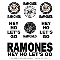 THE RAMONES Eagle aquila & Logo Mini STICKER ADESIVO Set, Officially Licensed Products Classic Rock Artwork, 3.5