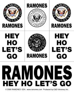 "Preisvergleich Produktbild THE RAMONES Eagle & Logo Mini Sticker AufkleberSet, Officially Licensed Products Classic Rock Artwork, 3.5'' x 4""- Long Lasting for Any Surface Sticker AufkleberEagle and Logo DECAL"