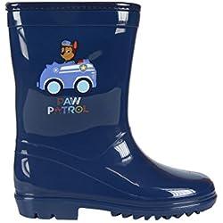Patrulla Canina Botas de agua Color Azul Marino con forro interior, Katiuskas niño Paw Patrol Water Boots (28)