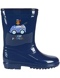 Patrulla Canina Botas de Agua Color Azul Marino con Forro Interior, Katiuskas Niño Paw Patrol