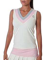 a40grados Sport & Style Cesta - Camiseta de tirantes para mujer, color blanco, talla M