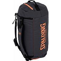 Spalding Duffle Bag Bolsa con Función de Mochila, Antracita/Naranja Intenso, Talla Única