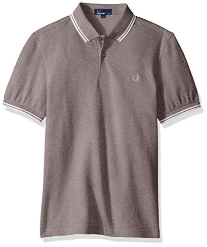 Fred Perry Herren Twin Tipped Shirt Poloshirt, Violett (Mahogany/Oxford Ecru F70), Small -