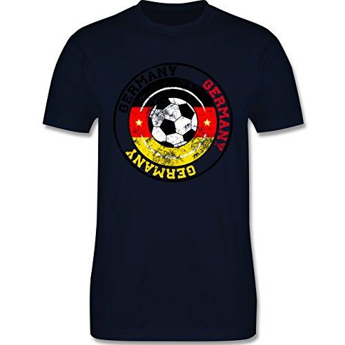 EM 2016 - Frankreich - Germany Kreis & Fußball Vintage - Herren Premium T-Shirt Navy Blau