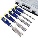 S&R Stechbeitel Set 5 Stück: 6, 12, 20, 25, 32mm, Mehrkomponenten-Hüllen,...