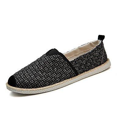 Lumière Rond Décontracté Slip SHOESHAOGE Pour Loafers Plante Talon Amp; Automne Unisexe Bout Kaki Ons Chaussures Noir Black Gris Printemps Plat wwxIUSO