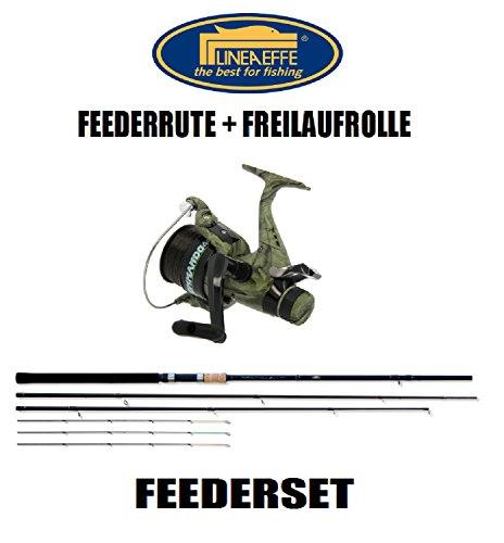 Lineaeffe Feeder-SET Infinity Feederrute + Freilaufrolle + Schnur 3,90m 180g Combo
