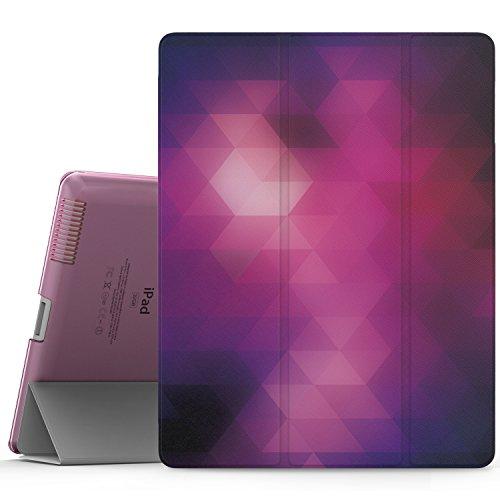 MoKo Hülle für iPad 2 / 3 / 4 - PU Leder Tasche Schale Smart Case mit Translucent Rücken Deckel, mit Auto Schlaf/Wach Funktion und Standfunktion für Apple iPad 2 - Generation Ipad 64 4. Gb