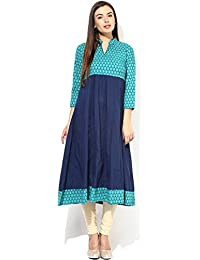 The Style Story Women's Cotton Solid Kurti