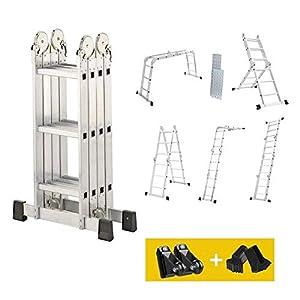 dripex merh utilizar con escalera con andamio Plataforma Escalera merh utilizar con escalera de aluminio telescópica (doble escalera Andamio–Escalera aluminio escalera Capacidad de hasta 150kg