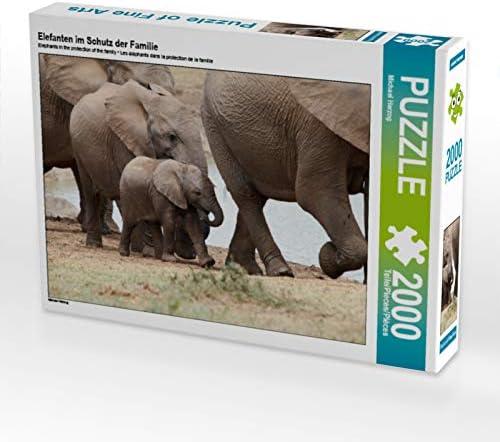 CALVENDO Puzzle Elefanten im Schutz der Familie 2000 Teile Lege-Grösse 90 x 67 cm Foto-Puzzle Bild Von Herzog Michael | Outlet