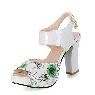 LvYuan Da donna-Sandali-Formale Casual-Club Shoes-Quadrato-Materiali personalizzati Finta pelle-Nero Blu Verde Rosso Red