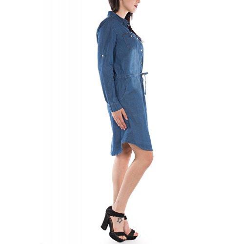 Ideal Shoes -  Maglia a manica lunga  - Donna Blu