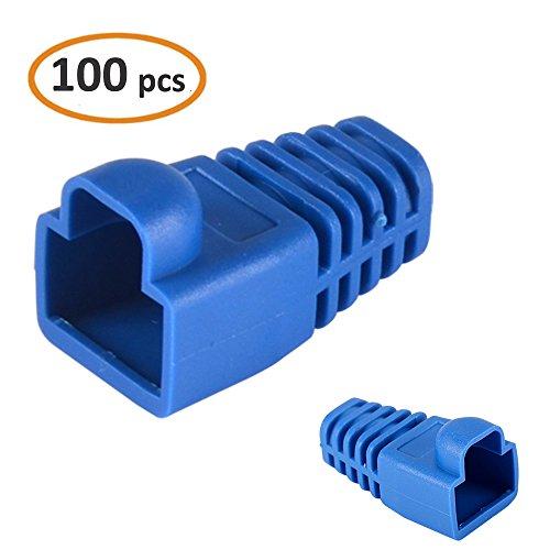 SHiZAK 100pcs Azul Botas plástico Blando Ethernet
