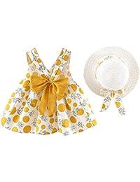 ba6bd71e7cfa4 Moneycom Enfant en Bas âge bébé Enfants Fille Sangle sans Manches imprimé  Pois Robes de Princesse