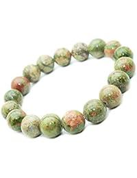 29647742c9ad Pulsera de piedra Unakite semi-preciosas perlas de 10 mm. piedra CALMANTE