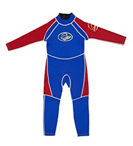 Surfit Boy's Full Length Wetsuit - Blue/Red, 2-3 Years