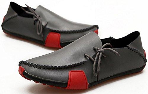 Wanderschuh ECOTISH Driving Schwarz Loafer Mokassins On Slip Schuhe Echtleder Herren UqTZvU4