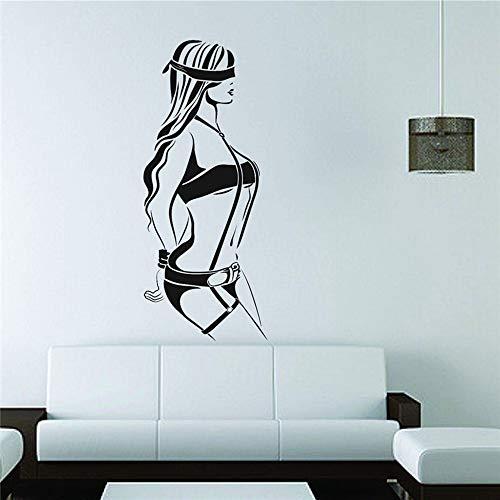 Fototapete Vinyl Aufkleber Aufkleber Dekor Shades Mädchen Handschellen Devot Sex Home Decor Art Decor Nette Wandaufkleber i1 34x85cm